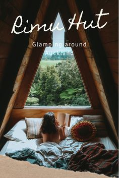 New Zealand Travel Guide, Tree Hut, Auckland New Zealand, Sound Of Rain, Air B And B, Comfy Bed, Big Windows, Peaceful Places, Cool Beds
