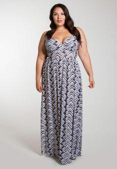 plus-size-fashion Plus Size Farrah Maxi Dress - SWAKdesigns.com - farrahmaxidress_black_white / 1X / Free Returns - 6