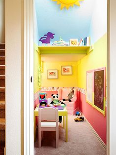 Underutilized storage closet revamped as a fun and functional playroom | BHG.com