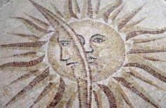 Paris Ceramics - Sun and Moon Mosaic