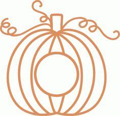 Silhouette Online Store: monogram pumpkin
