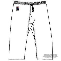 Pants 179772: Awma 25682 Proforce Gladiator 8 Oz. Karate Pants - Black (Elastic Waist) Size 2 BUY IT NOW ONLY: $46.45