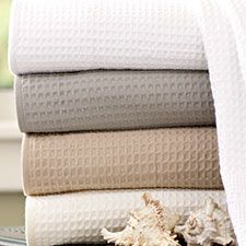 Classic waffle weave towels dry fast and pack flat.