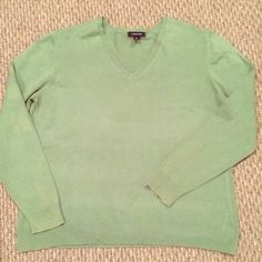 Lands' End Sage Green V-Neck Sweater This sweater looks great with khakis or jeans! Lands' End Sweaters V-Necks