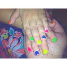 Little sisters rainbow nails