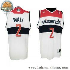 Washington Wizards 2 John Wall Retro White Red NBA Jersey