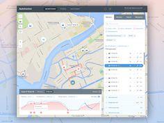 Trucks tracking web app