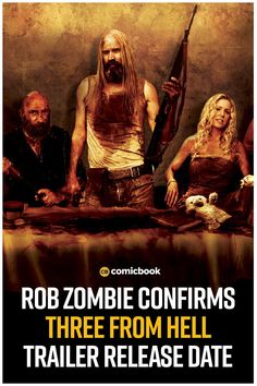 Rob Zombie Confirms Three From Hell Trailer Release Date. Zombie Movies, Scary Movies, Horror Movies, Sheri Moon Zombie, Rob Zombie, The Devil's Rejects, Comic News, Sci Fi Thriller, Indie Films