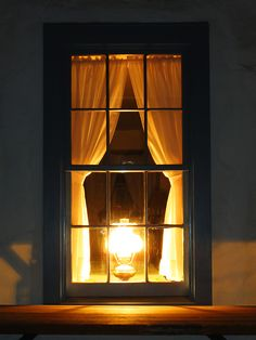 Night Window, Window View, Window Candles, Art Of Manliness, Shine Your Light, Through The Window, Street Lamp, Cool House Designs, Oil Lamps