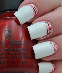 China Glaze With Love Nail Art Stripes, Striped Nails, Rainbow Nail Art Designs, Nail Designs, Calgary, Toronto, Nail Art Hacks, China Glaze, Beauty Make Up