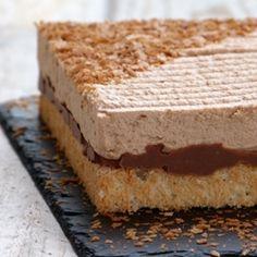 {recipe} Royal caramel ~ milk chocolate caramel mousse, crunchy praline and almond Dacquoise
