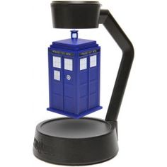 there is a rotating levitating TARDIS! I am so mind blown. I want one