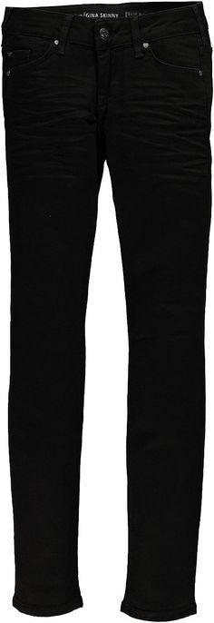 Junge, feminine 5-Pocket-Jeans mit eng verlaufendem Bein und niedriger Leibhöhe. Black Denim: 99 % Baumwolle, 1 % Elasthan....
