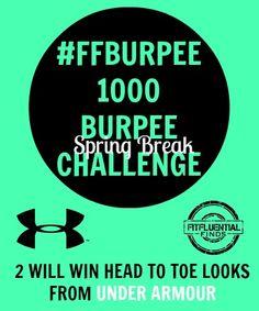 The #FFBURPEE 1,000 Burpee Challenge
