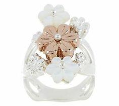 Carolyn Pollack Blushing Joy Sterling/Copper Ring
