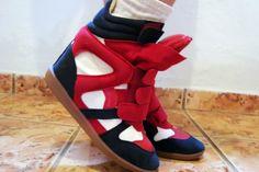 Sneaker Red / Blue Navy numeração 37BR. www.elfas.com.br