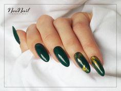 Zielone paznokcie hybrydowe / NeoNail