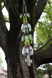 Who doesn't Love the sound of a Wind Chimes   Wine Bottle Wine Chimes are easy to make and make Great Gifts     Lets get starte...