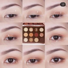 Makeup looks – Lush Makeup Ideas Soft Eye Makeup, Asian Eye Makeup, Eye Makeup Steps, Eyeshadow Makeup, Korean Makeup Look, Korean Makeup Tips, Korean Makeup Tutorials, Kiss Makeup, Beauty Makeup