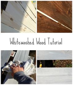 whitewashed wood tutorial | the best way to whitewash wood | whitewashing wood…