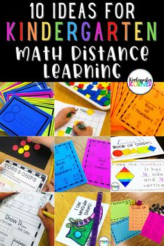 Learn more about 10 ideas for teaching kindergarten math remotely for distance learning. This post shares ten purposeful activities that can be used for both online instruction and in the classroom. Concepts focus on number sense, number writing, measuring, addition, number composition and decomposition, and 1:1 correspondence. #kindergartenmath #kindergarten #mathideas #distancelearningmath #remotelearning Homeschool Kindergarten, Kindergarten Lessons, Kindergarten Activities, Classroom Activities, Classroom Ideas, School Resources, Learning Resources, Kids Learning, Math Websites