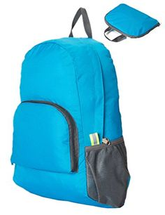 CUBEA Packable Handy Lightweight Foldable Beach Travel Daypack Hiking Camping  Backpack Blue    Details can. Hiking Day PackHiking ... fc9dfdb1c2a08