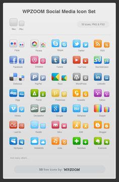 Free Social Media #Icons