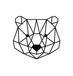 Geometric horse design silhouette vector image on VectorStock Origami Tattoo, Geometric Drawing, Geometric Shapes, Geometric Bear Tattoo, Geometric Animal, Metal Clock, Metal Wall Art, Roman Clock, Polygon Art