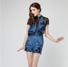 Quần áo trẻ em mùa hè 2014 phụ nữ EURAMERICAN phụ nữ thời trang mới trồng đức DENIM giải trí JUMPSUIT-phim-Phù hợp với & Tuxedo-Mã sản phẩm:1887560448-vietnamese.alibaba.com