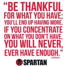 Appreciate what you have! #SpartanRace