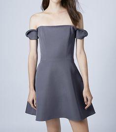 Topshop Off the Shoulder Sweet Mini Dress by Unique