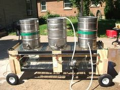 Brewstand using hogwire and pneumatic tires