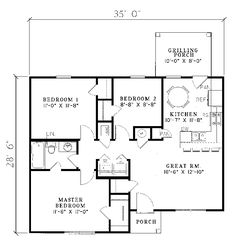 Small House Floor Plans   House Plans and Home Designs FREE » Blog    Small Ranch House Plans   Ranch House Plan First Floor   D    House