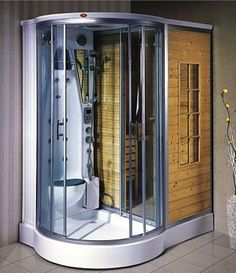 38 Easy And Cheap Diy Sauna Design You Can Try At Home. he prospect of building a sauna in the home may initially sound daunting, but in fact it is a relatively simple project . Saunas, Diy Sauna, Sauna Shower, Shower Box, Shower Ideas, Building A Sauna, Sauna Steam Room, Sauna Room, Casa Retro