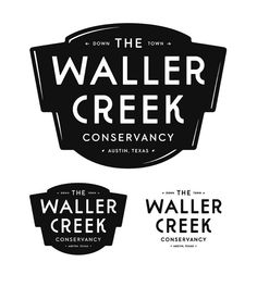 Waller Creek crest #typography #logo