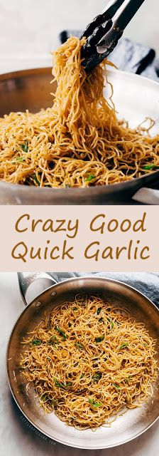 Learn how to make THE BEST quick garlic noodles. There are a few unusual ingredients here, but trust me, these are the best garlic noodles you'll ever have!