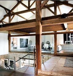 Love the wood beams