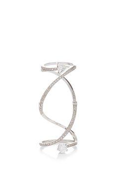 Trillon And Round Cut Diamond Handroid Ring by Delfina Delettrez for Preorder on Moda Operandi