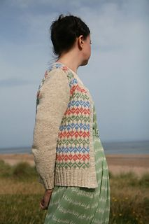 Ursula Cardigan by Kate Davies. Part of the Colours of Shetland book available in print or digital for about $28.