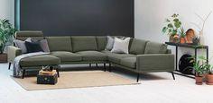Er det på tide å fornye stua? Finn din nye sofa hos Fagmøbler; velg blant våre flotte modeller eller bygg din helt egen modulsofa.Lugo hjørnesofa med sjeselongstoff Ranch