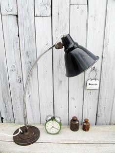 Arbeitslampe im Industriestil - extrem used von Gerne Wieder auf DaWanda.com  #light #Lamp #Vintage #Industrial
