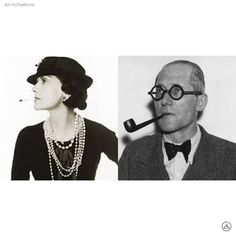 The leaders of modernism and simplicity #CocoChanel #LeCorbusier #Archifashion #Architecture #Design #Collaboration #Fashion #Dailysnap #photography #art #건축 #디자인 #패션 #建築 #ファッション #設計 #设计 #时尚 #建筑