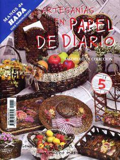 Revistas de Manualidades Para Descargar: Artesanias en Papel de diario N° 5