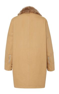 Lamb Shearling Mixed Coat by LIVEN for Preorder on Moda Operandi