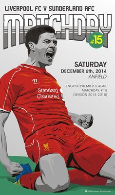 It's matchday once again as #LFC welcome Sunderland to Anfield this afternoon. Come on!