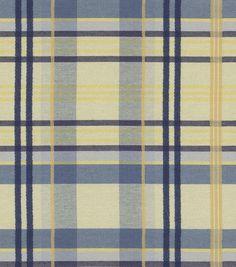 Home Decor Fabric-Waverly Language Of The Garden Ballroom Plaid Porcelain