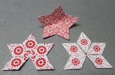 Monravian Star Before Christmas, my friend Nancy found a free pattern online for an English Paper Pieced (EPP) Monravian Star by Jennifer Strauser. Click here for the link to the free PDF of the patte