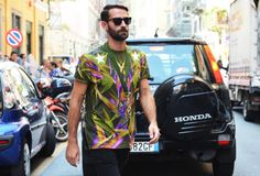Marcelo Burlon - the man is filled with surprises plus has a smile like no other..