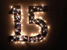 Decoração de festa de 15 anos - Letreiro iluminado