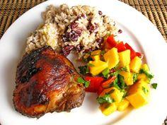 Jamaican Jerk Chicken!!! ~XOX  #MomAndSonCookingTeam ♡♡